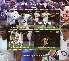 Chad 2012 MNH Rugby Six Nations 4v M/S Sports Stamps