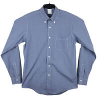 Brooks Brothers Milano Blue Non-Iron Supima Cotton Dress Shirt 15.5 / 35