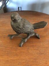 """Rustic Cast Iron Bird Paper Weight 5"""" Long 4"""" Tall New Home Decor"""