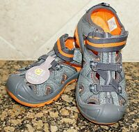 MERRELL Boy's Sandals HYDRO Hiker Water Orange & Grey NEW Size 11M or 12M