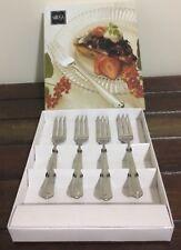 MIKASA Cake Fork Box Set Of 4 Classico Satin Like New Condition