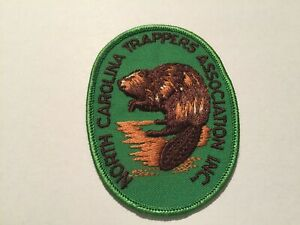 Vintage North Carolina Trappers Association Inc. Patch NC Hunting Patch Htf!