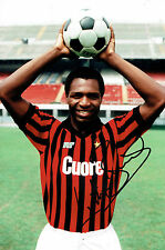 Luther BLISSETT SIGNED Autograph 12x8 Photo AC MILAN Italy AFTAL COA