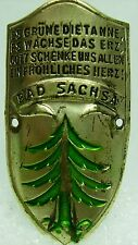 Bad Sachsa used badge mount stocknagel hiking medallion G5708