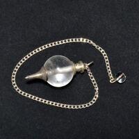 40-45 MM long Natural Quartz Crystal Ball Pointed Dowsing Pendulum Postive Vibes