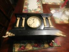 Nice Detailed Late 1890'S Early 1900'S Gilbert Company Mantle Clock No Key Nr!