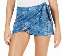 Free People Womens Skirts Blue Size 8 Wrap Draped Floral -Printed $68 562