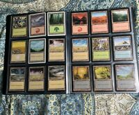180 Vintage LANDS Collection Magic The Gathering Cards MTG  Very good+ WOTC