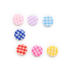 50pcs 2 hole Grid Resin Buttons Sewing Scrapbooking Home Decor Clothing 13mm
