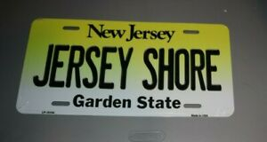 "FULL SIZE ""JERSEY SHORE""  METAL NOVELTY LICENSE PLATE NEW JERSEY FORMAT"
