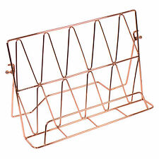 32cm Copper Coloured Metal Wire Cook Book Stand Recipe iPad Holder Rest Tablet