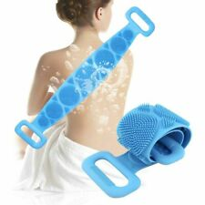 Double Sided Back Scrubber Bath Shower Silicone Body Brush Back Body Cleaning