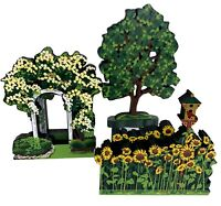 Shelia's Collectibles Houses My Favorite Places Sunflower Tranquil Arbor Tree LE