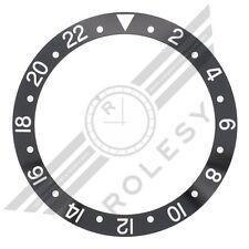 Aluminum Bezel Insert for Rolex GMT Master 1675 16750 16750-1 Black/Silver