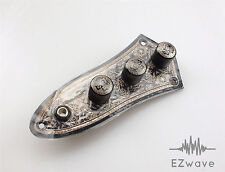 Black Paisley Design Loaded Pre-wired Control Plate for Jazz Bass