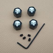 4Pcs Black Antitheft Dust Wheel Wheel Tite Valve Air Cap punisher Logo Emblem