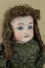 """21"""" Dep German Kestner Doll Mold 154 / Old Antique Bisque Shoulder Head Leather"""