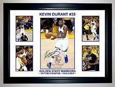 2017 KEVIN DURANT #35 GOLDEN STATE WARRIORS 5 PHOTO COLLAGE SIGNED PRINT/FRAMED
