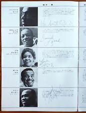 THE PLATTERS Signatures autographe dédicace sur programme japonais