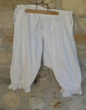 Antique Pantalette Bloomers Open Crotch French Knickers French Lingerie