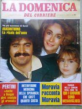La Domenica del Corriere 27 Marzo 1982 Abatantuono Delon Malgioglio Moravia Papa