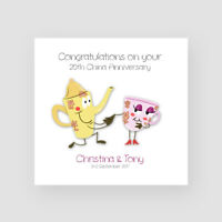 Personalised Handmade 20th China Wedding Anniversary Card - Twentieth, Funny