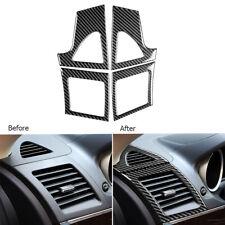 Carbon Fiber Dashboard Air Vent Outlet Cover For Mitsubishi Lancer Evo 2008-14 (Fits: Mitsubishi)