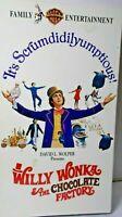 VHS tape Willy Wonka and The Chocolate Gene Wilder 1971