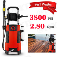 MAX.3800PSI 2.8GPM Electric Pressure Washer High Power Cold Water Cleaner Machin
