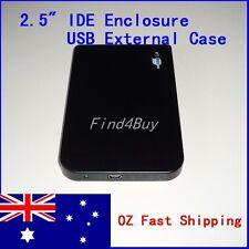 USB 2.0 Slim 2.5 IDE Hard HDD Drive Disk External Enclosure Case Toolless Caddy