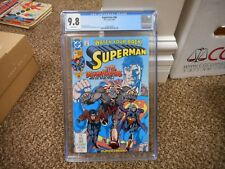 Superman 58 cgc 9.8 DC 1991 TV show Action JLA vs Batman movie MINT WHITE pages