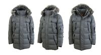 Mens Down Parka Heavy Jacket Coat Outerwear Detachable Hood & Fur Trim Warm NWT