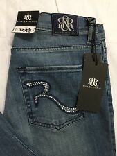 Rock And Republic Size 12 M Kasandra Bootcut Embellished Pocket Distressed Light