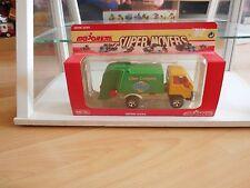Majorette Toyota Garbage Truck in Yellow/Green in Box (Serie 3030)