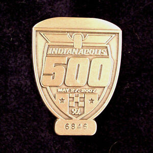 PIT BADGE ~ 2007 INDIANAPOLIS 500 ~ SILVER