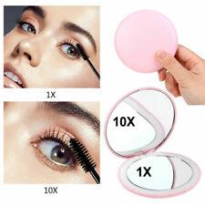 5Colors Light Mini Round Portable LED Makeup Mirror Sensing Foldable 10X Magnify