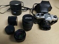 Yashica TL Electro X film camera w/ 3 lenses jcpenney 135mm 55mm