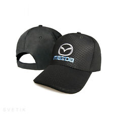 Mazda CARBON Black Baseball Cap Embroidered Auto Car Logo Hat Gift Mens Womens