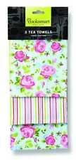 Cooksmart 3 PK Tea Towels Vintage Floral0