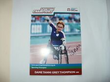 SIGNED CARD-DAME TANNI GREY THOMPSON-PARALYMPICS