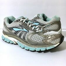 BROOKS Ariel Women's Running Training Shoes Silver Blue White Sz 7 EUR 38