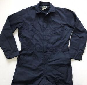 Berne Apparel Men's Sz Med 42 R Standard Unlined Coverall Solid Navy Blue