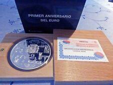 España 50 euro 2003 5 Oz plata pp aniversario de la introducción del euro-en su embalaje original