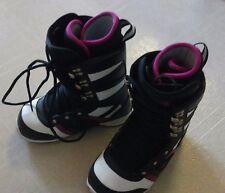 Ltd Lyric Snowboard Boots Purple White+ burton decal womens 7 NEW
