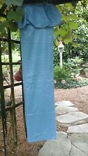 HYGIENE INDUSTRIES- 100% Polyester Drylon  Vintage BLUE Shower Curtain w/ Rings