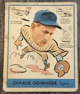 1938 Goudey #265 Charlie Gehringer - HOF - Detroit Tigers