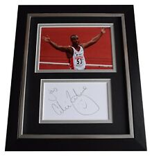 Colin Jackson SIGNED 10x8 FRAMED Photo Autograph Display Olympic Athletics COA