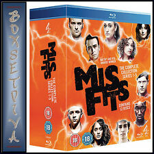 MISFITS - COMPLETE SERIES 1 2 3 4 & 5   *BRAND NEW  BLU-RAY BOXSET***
