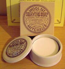 Mitchells Wool Fat Shaving Soap 125g & Ceramic Dish
