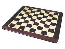 "Large Size 25"" Flat Wooden Chess Board Inlaid Rosewood/Maple. Sq. Sz 2.5"""
